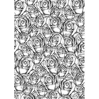 Sentimentally Yours Resplendent Roses A6 Rubber Stamp