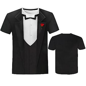 Ny muskelman tryckt 3d T-shirt Rund hals Kortärmad