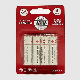 New Handy Heroes AA 4 Pack Alkaline Batteries White