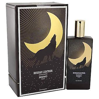 Russian Leather Eau De Parfum Spray (Unisex) By Memo 2.5 oz Eau De Parfum Spray