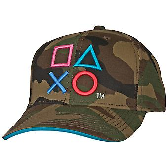 Playstation Bordado Camo Pre-Curved Snapback