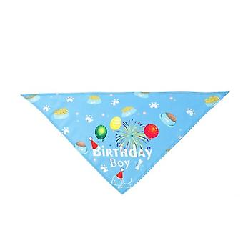 Pet Birthday Hat Saliva Towel Triangle Scarf Pet Accessories