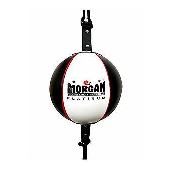 Morgan 8 Inch Platinum Leather Floor To Ceiling Adjustable Straps