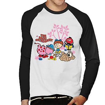 The Magic Roundabout Retro Cartoon Style Men's Baseball Long Sleeved T-Shirt