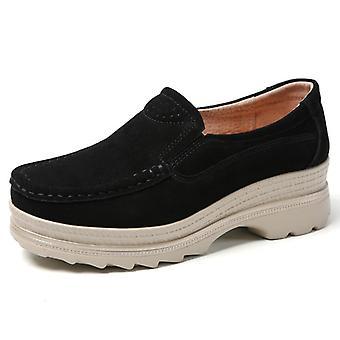 Comfort Soft Flats Platform Loafers Genuine Leather
