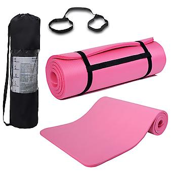 Yoga Mat 15mm Thick Non Slip Exercise Fitness Physio Pilates Gym Mat 185x80cm