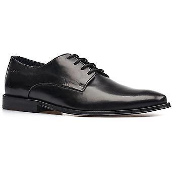 Base london men's marley plain toe derby shoe black 32248