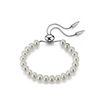 Adriana pearl bracelet freshwater white flexible silver rhodium-plated approx. 28 cm R58