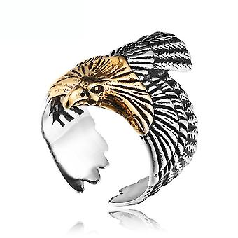 Eagle Ring Plated Titanium Steel Finger Ring For Party