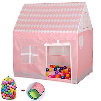 Kotitalous lapset tulostaa pelata teltta pieni peli talo 50 Ocean Balls & Matto (vaaleanpunainen)