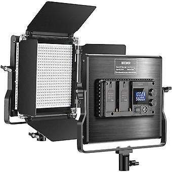 HanFei Fortgeschrittene 660 LED Videoleuchte Dimmbares Bi-Farbe zweifarbiges mit LCD Bildschirm fr