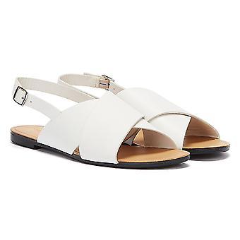 Vagabond Tia Cross Strap Womens White Sandals
