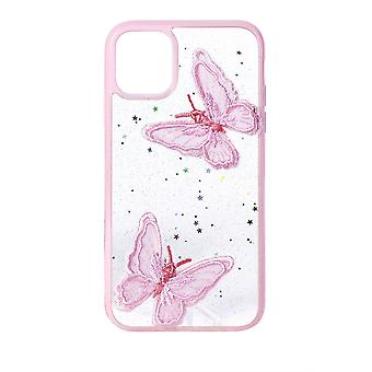 Phone Case (Baby Pink) Butterfly ShockProof Soft TPU Silicone For iPhone 11 Pro