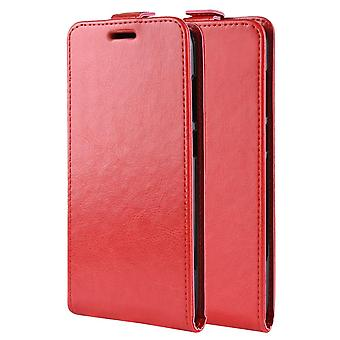 Magnetic leather case for Sony Xperia XZ2 - red