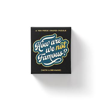 How Are We Not Famous 100 Piece Mini Shaped Puzzle by Brass MonkeyGalison