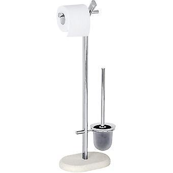 toilettenpapierhalter und Bürste Puro72 cm Edelstahl silber