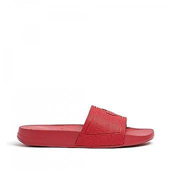 FitFlop Iqushion Slide Damer Gummi Sandaler Scarlet Röd