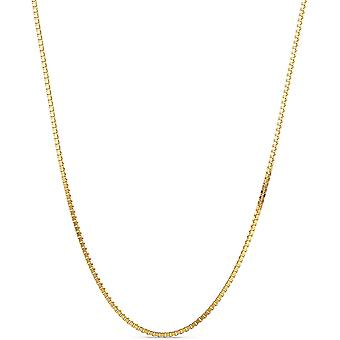 FengChun Kette Damen Venezianer Halskette Gelbgold 9 Karat / 375 Gold, Lnge 45 cm Schmuck