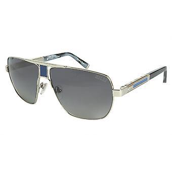 ZILLI Solglasögon Titanacetat Läder Polariserat Frankrike Handgjord ZI 65035 C03