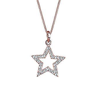 Elli 0111280711_45 - שרשרת נשים עם תליון בצורת כוכב, כסף סטרלינג 925, עם גבישי סברובסקי לבנים Ref. 4050878543112