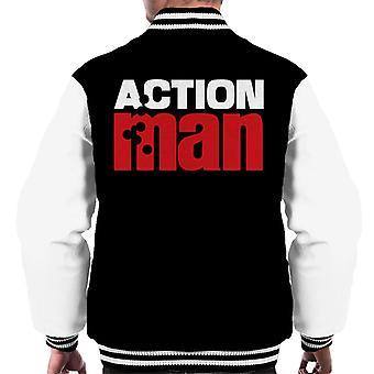 Action Man Red Logo Men's Varsity Jacket