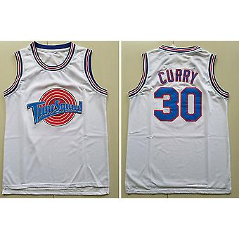 Mens Basketball Jersey Tune Squad Curry #30 Space Movie Jersey 90s Hip Hop Clothing For Party S-xxl