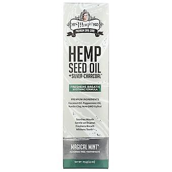 My Magic Mud Sliver Charcoal Toothpaste Hemp Seed Oil, 4 Oz