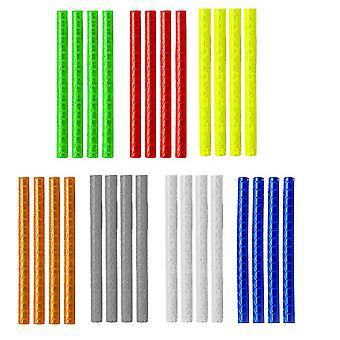 84pcs Колесо Декор Использование наклейки Красочные колеса Спицы Отражающий клип трубы Отражатели Велосипед Велоспорт безопасности лента для наружной (случайный цвет)