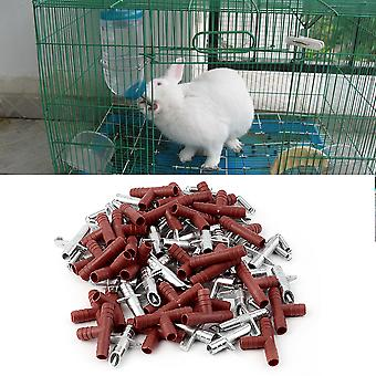 30pcs Rabbit Nipple Water Drinker Waterer Poultry Feeder Bunny Rodent Mouse