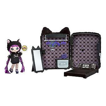 Playset Na, mitä sinä teet? Na! Na! Yllätysreppu Makuuhuone 3-in-1 Cat Black