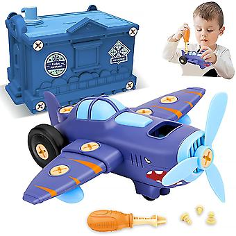 Building Toys For Kids,take Apart Airplane Toy With Electric Motor Toys