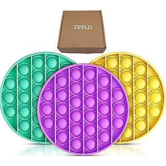 3stück Push pop Bubble,Pop it Fidget Toy Set, Sensory Fidget Toy, Baby Spielzeug für Autismus