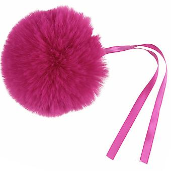 Cerise Pink Giant 11cm Faux Fur Pom Pom para decoraciones y artesanías