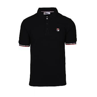 Fila Vintage Fila Wade Polo Shirt Black