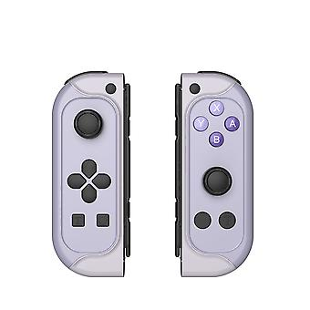 Controlador sem fio para Nintendo Switch Joy-with Par de Bluetooth Gamepad Joypad Joypad Joystick Replacement para Nintendo Switch Joy Pad com Turbo Gyro Axis Capture (Cinza)