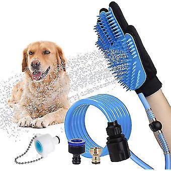 Strumento di balneazione per animali domestici Cane Bagno Guanto massaggiatore Pet Hair Remover per il bagno del cane