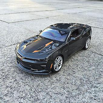 1:18 Chevrolet Camaro Car Alloy Decoration Collection Gift Toy Die Casting Model Boy Toy (preto)