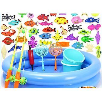 Fiskeleksaker fiske set passar magnetiskt vatten fisk fyrkantig lekleksak