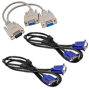 GNG skærm VGA SVGA Y Dual Splitter kabel føre Adapter konverter