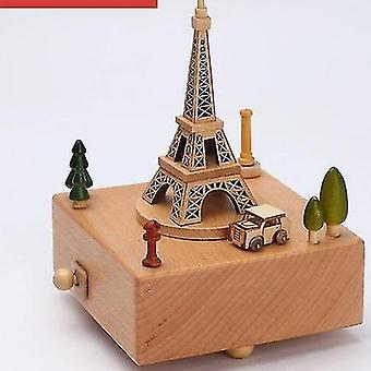 Stijlvolle gegraveerde muzikale houten dozen uurwerk Craft voor Verjaardag Home