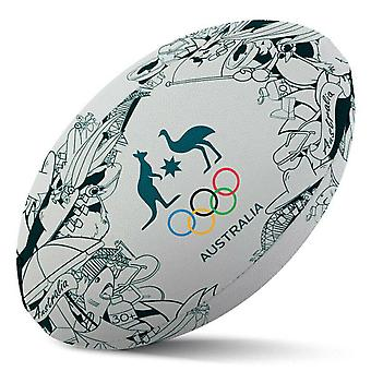 Summit rugby ball aoc australian olympics iconic rubber game size 5