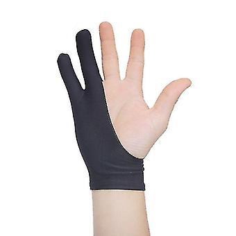 グラフィックタブレットのための手袋を描く防汚2指