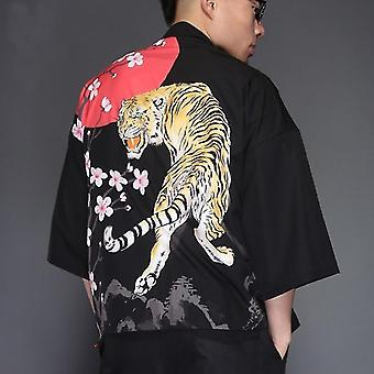 Men Kimono Jacket Japan Harajuku Streetwear Samurai Clothes