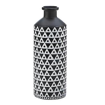 Nikki Chu Black and White Geometric Porcelain Vase, Pack of 1