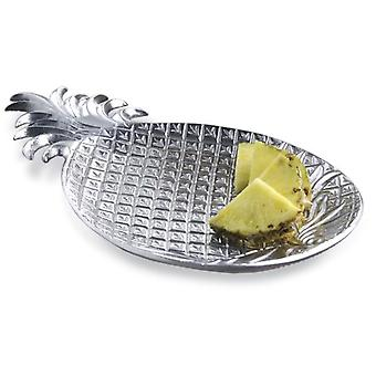 Silver Tropical Pineapple Shaped Serving Platter