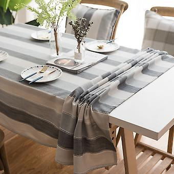 Cathetus tablecloth waterproof rectangular striped round table cloth