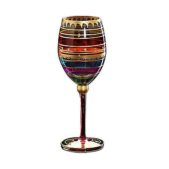 1PCS Farbige Zeichnung Flöte Glas Tasse Kristall Tasse Champagner Gläser Wein für Wodka Tassen Hochzeit Bar