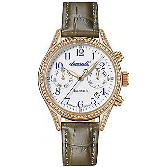 Ingersoll Brown Genuine Leather IN7401RWH Women's Watch
