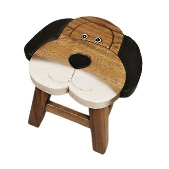 Kids Wooden Stool Dog