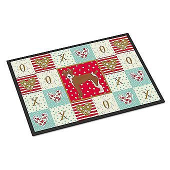 Door mats carolines treasures ck5887mat rat terrier love indoor or outdoor mat 18x27